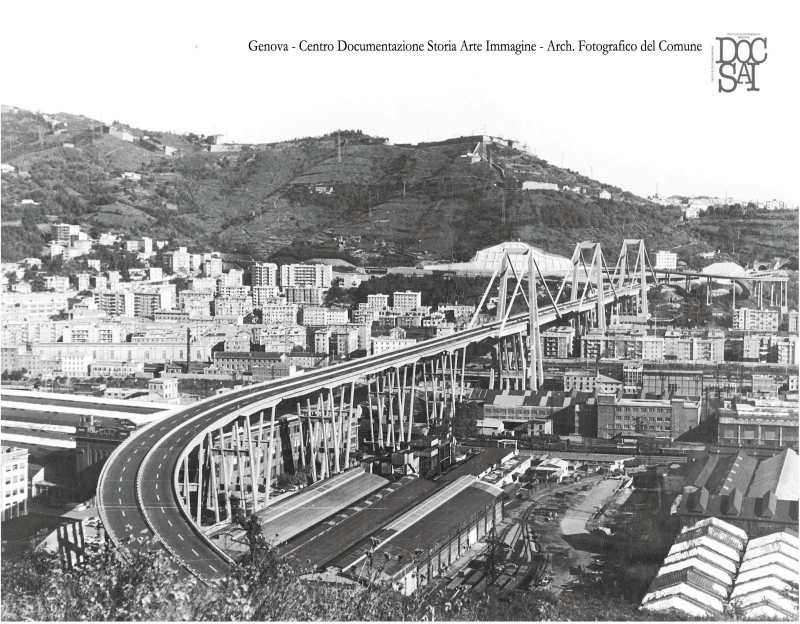 Il ponte a cavallo fra gli anni '60 e'70 del Novecento