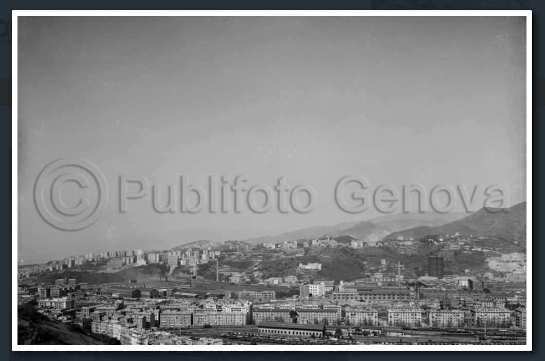 12 aprile 1961 veduta delle case di Via Porro, dove poi sarà costruito il Morandi