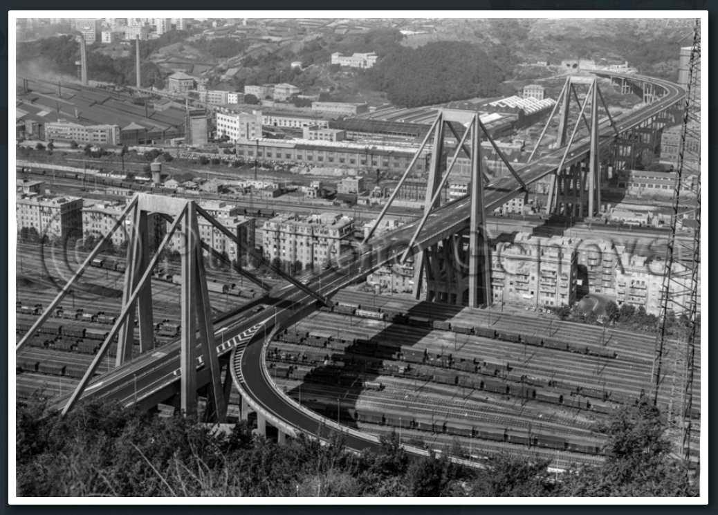 7 settembre 1967, il ponte ultimato e aperto al traffico