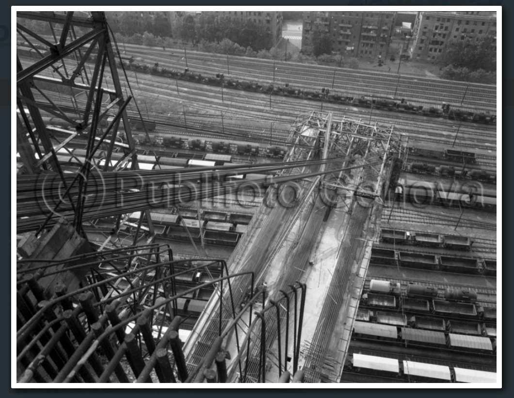 12 maggio 1964, intelaiatura d'acciaio degli 'stralli'